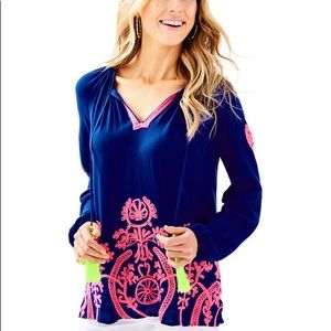 Lilly Pulitzer Willa Embroidered Top